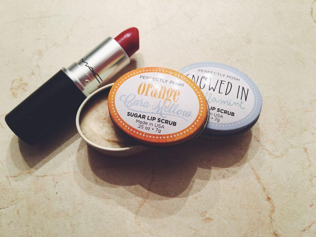 One MAC matte lipstick and two perfectly posh lip scrubs